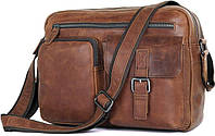 Сумка мужская Vintage 14466 Коричневая, Коричневый
