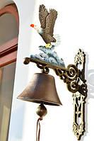 Шикарный колокол,колокольчик! Чугун! Орел!