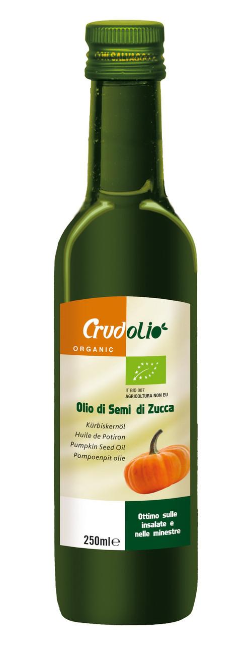 Масло тыквенное (тыквенных семечек) Olio di semi di Zucca CrudOlio Organic, 250 мл.