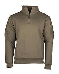 Кофта - толстовка мужская тактическая   TACTICAL SWEAT-SHIRT M.ZIPPER RANGER Mil-Tec цвет олива Германия -L