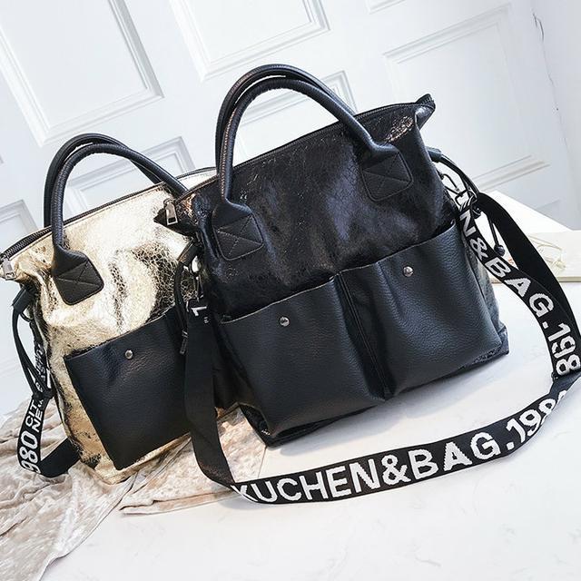 Блискуча жіноча сумка