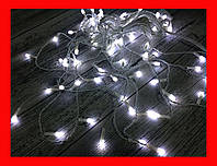 Гирлянда Бахрома  LED 200 белый, белый провод 3,5 метров