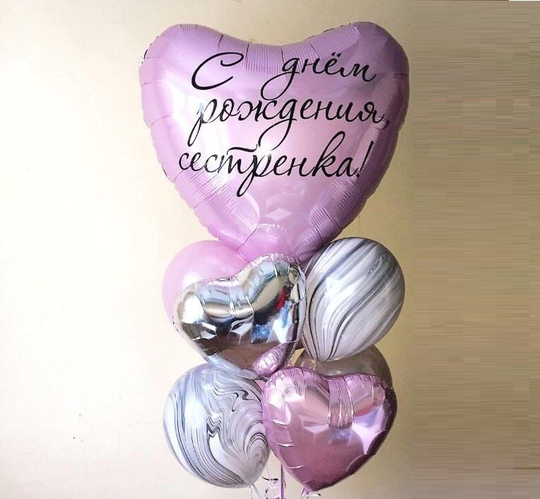 Фольгированные шары с надписью