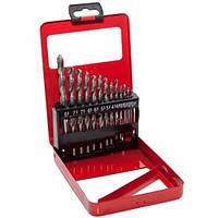 Набор сверл по металлу, 1-10 мм (через 0,5 мм), HSS, 19 шт., метал. коробка цил. хвостовик MATRIX 72388