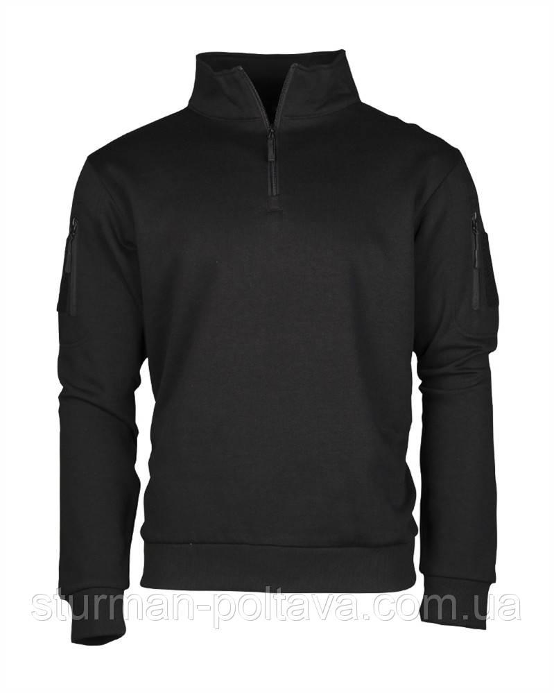 Куртка тактическая TACTICAL SWEAT-SHIRT M.ZIPPER SCHWARZ