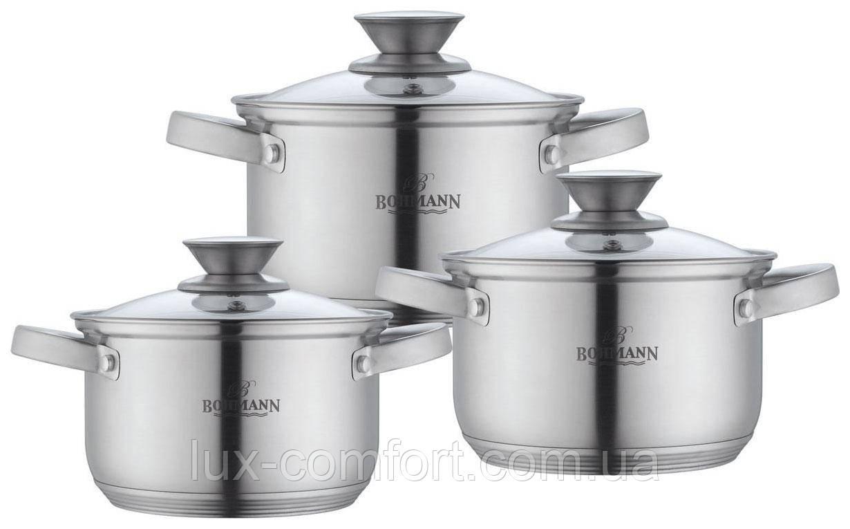 Набор кастрюль из нержавеющей стали Bohmann BH 0516 (6 предметов)