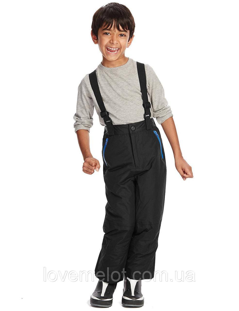 """Детские штаны теплые и непромокаемые зимние на подтяжках M&S """"Мороз не страшен"""" рост 86, 92 и 98см"""