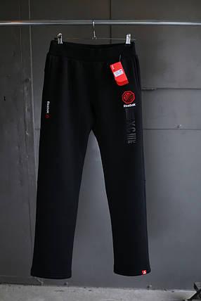 Зимние спортивные брюки REEBOK UFC WINTER черные  реплика, фото 2