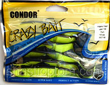 Твістер силіконовий Condor FSB07, колір 158, 105мм, 6шт