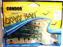 Силікон твістер Кондор Crazy bait FSB07, колір 142, 105мм, 6шт