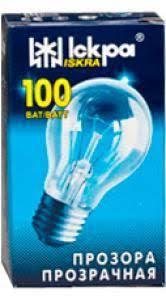 Электролампы накаливания в индивидуальной упаковке ТМ Искра
