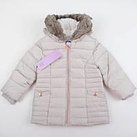 """Детская теплая куртка-пальто F&F """"Золотце"""" размер 80 и 86см"""