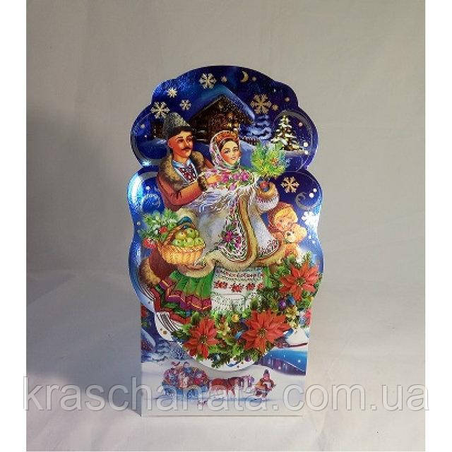 Новогодняя коробка, Рождественская ночь, 800 гр, Картонная упаковка для конфет