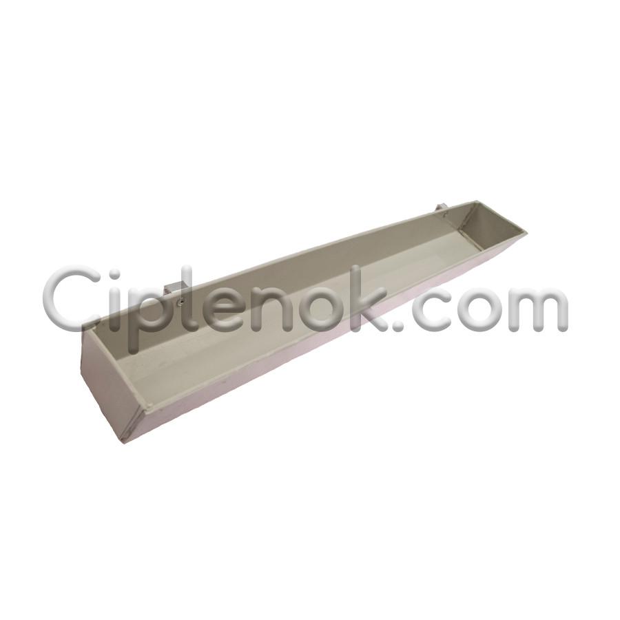 Лотковая кормушка 50 см навесная 1 л / 0,7 кг (ЛК-4) пластик.