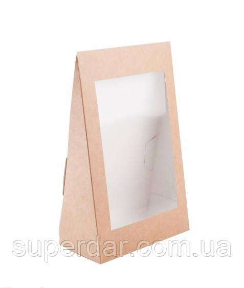Коробка-треугольник для пряников с окном 160×80×250 мм.