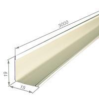KRAFT Профиль Fortis пристенний  L 19*24мм, 3м RAL 9003(уп.50шт)
