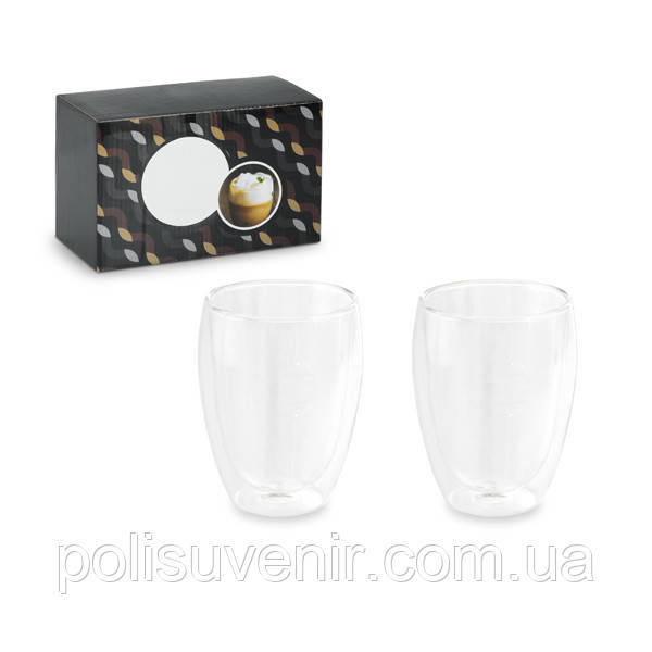 Набор из 2-х стаканов цвет прозрачный