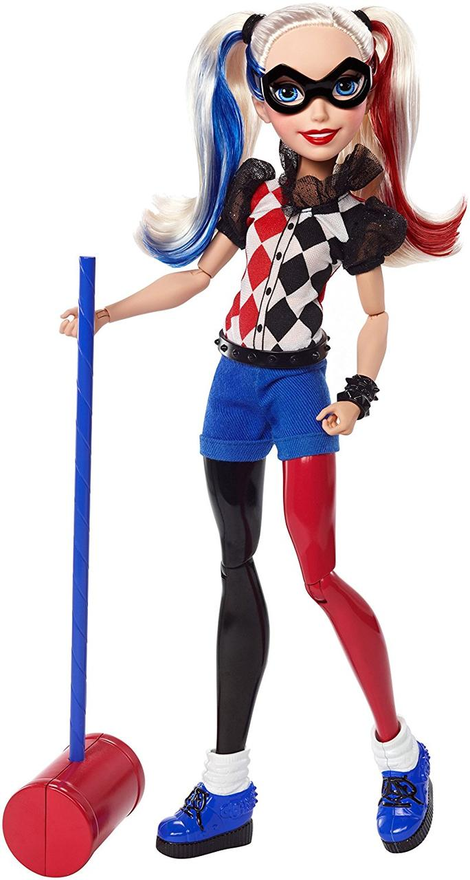 "Кукла Barbie Харли Квин DC Super Hero Girls Harley Quinn 12"" Action Doll"