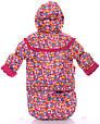 Детский костюм-тройка для девочки (конверт+курточка+полукомбинезон) малиновый зоопарк, фото 5