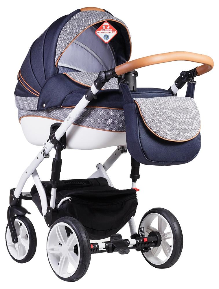 Детская коляска универсальная 2 в 1 Adamex Prince X-9 (Адамекс Принц, Польша)