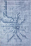 Блідо блакитний килим з рослинної шовку, фото 2