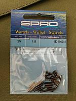 Обжимная трубочка Spro Black Brass Single Sleeves 25шт 1.8мм наружный диаметр(4524018)
