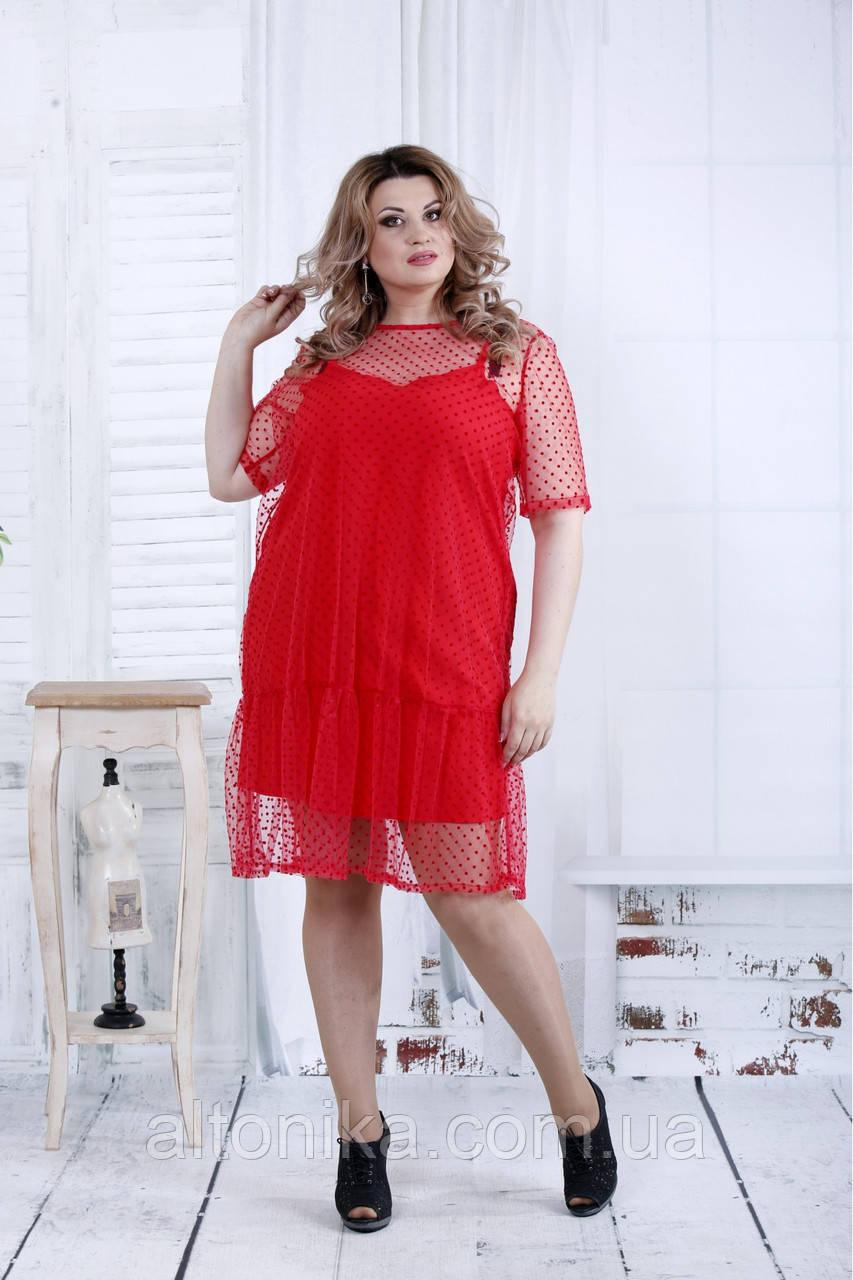 Женское платье с сеткой | 42-74