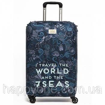 Чохол для валізи I Travel the World Rocket Design