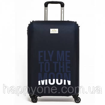 Чохол для валізи Fly Me to the Moon Rocket Design
