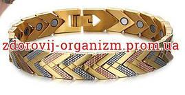Турмалиновый браслет с магнитами серебро с золотом 3в1 Вековой Восток