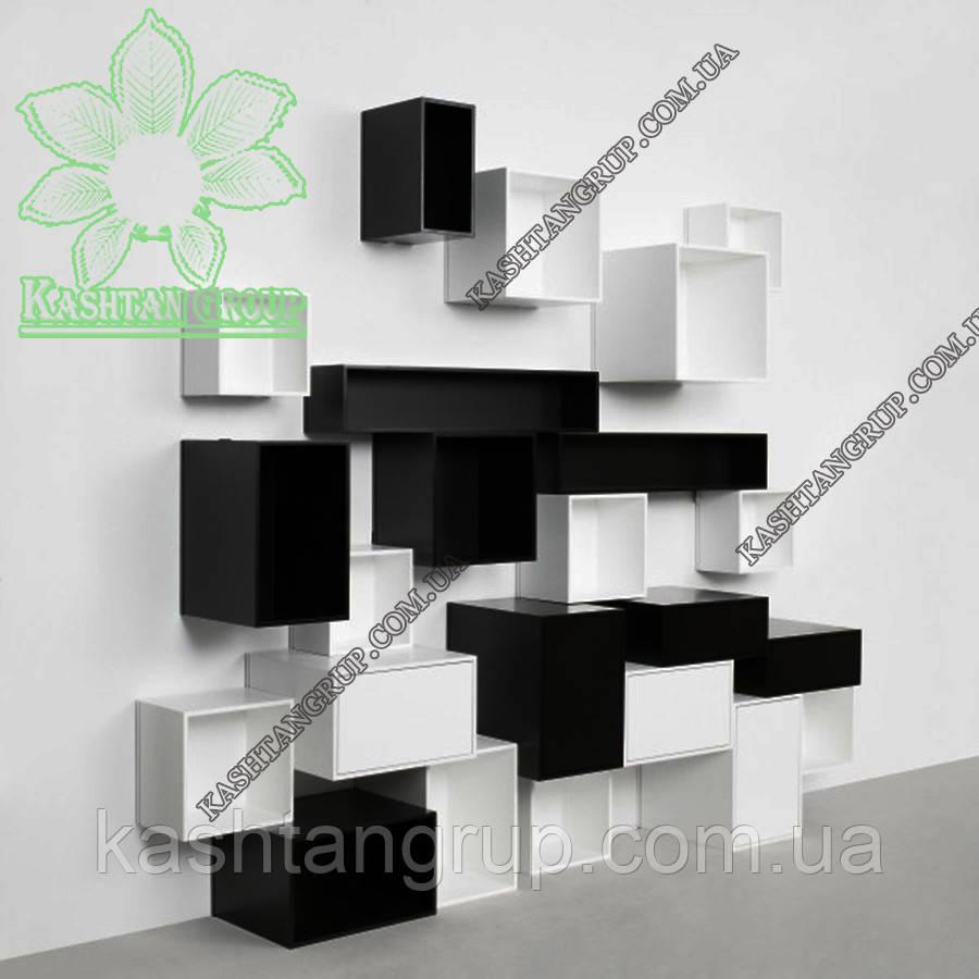 Модульная стеллажная система черного и белого цвета