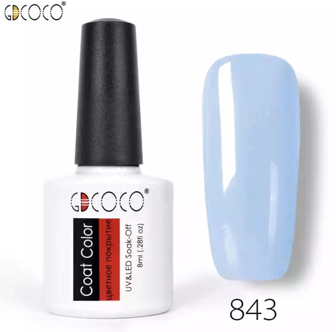 Гель-лак GDCOCO 8 мл, №843 (нежно-голубой)