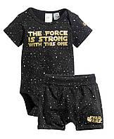 """Детский набор шорты и бодик H&M """"Сила Джедая"""" для мальчика 74 см звездные войны"""