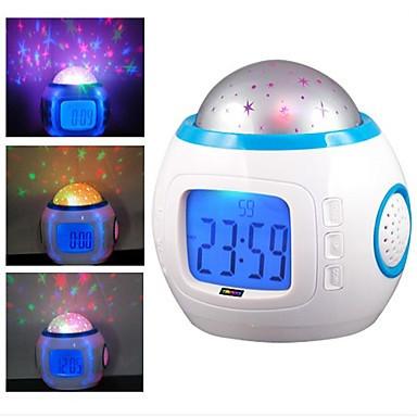 Ночник, проектор, будильник Музыкальные часы с проектором звездного неба UI1038