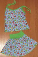 Детский летний комплект для девочки: топ и юбка