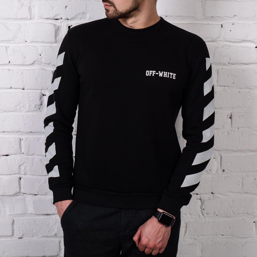 Молодежный свитшот черный с белым