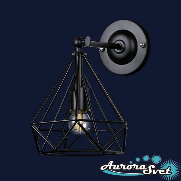 Бра настенная AuroraSvet loft 8200 чёрная. LED светильник бра. Светодиодный светильник бра.
