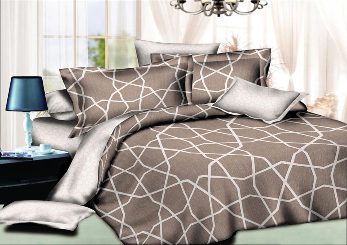 Двуспальный комплект постельного белья 180*220 сатин (10568) TM КРИСПОЛ Украина