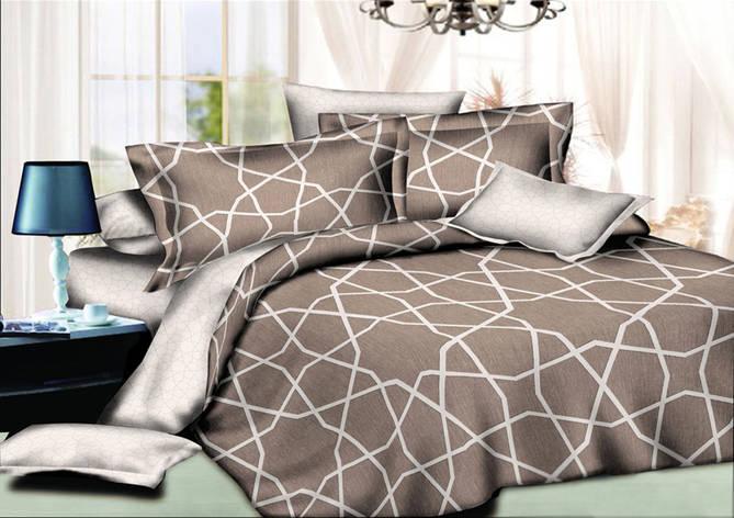 Двуспальный комплект постельного белья 180*220 сатин (10568) TM КРИСПОЛ Украина, фото 2