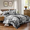 Двуспальный комплект постельного белья евро 200*220 сатин (10602) TM КРИСПОЛ Украина