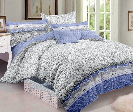 Двуспальный комплект постельного белья евро 200*220 сатин (10615) TM КРИСПОЛ Украина, фото 2