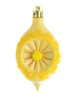"""Игрушка новогодняя """"Лимон"""" d-6*9.5 см, желтый"""