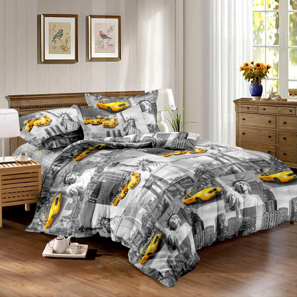 Семейный комплект постельного белья сатин (10633) TM КРИСПОЛ Украина
