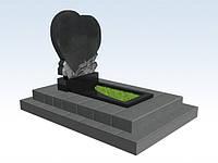 Памятник гранитный (сердце розы), памятники надгробия гранитные купить в Симферополе