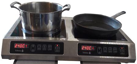 Индукционная настольная плита Техма 2Кx3,5 кВт , фото 2