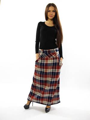 """Длинная женская юбка. Юбка """"Тартан"""""""