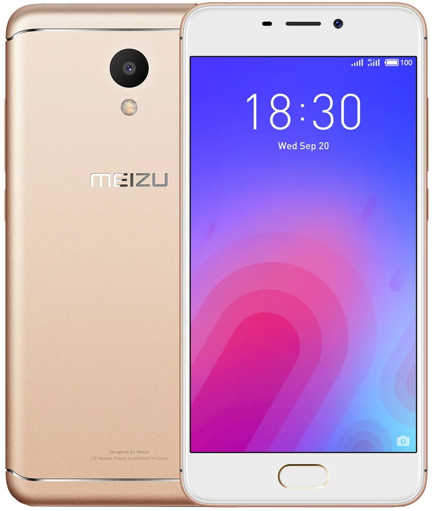 Сенсорный мобильный телефон Meizu M6 3/32 Gold