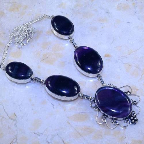 Ожерелье колье флюорит колье с флюоритом натуральный флюорит Индия