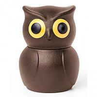 Стоппер для бутылки Owl Stopper Qualy (коричневый)