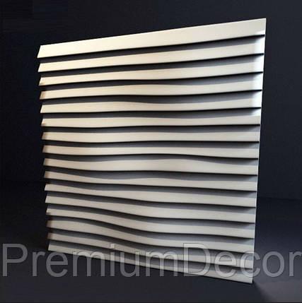 Гипсовые 3Д/3D панели ЛИНИИ, фото 2